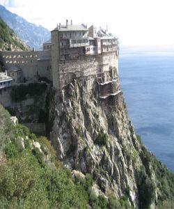 Monaster Simona-Petra na św. Górze Athos.