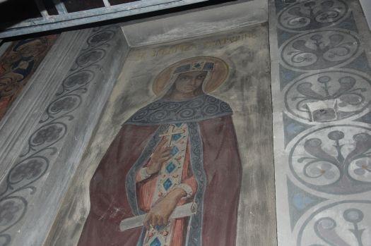 Fresk św. Katarzyny (nawa północna soboru) przed renowacją - 2010 rok