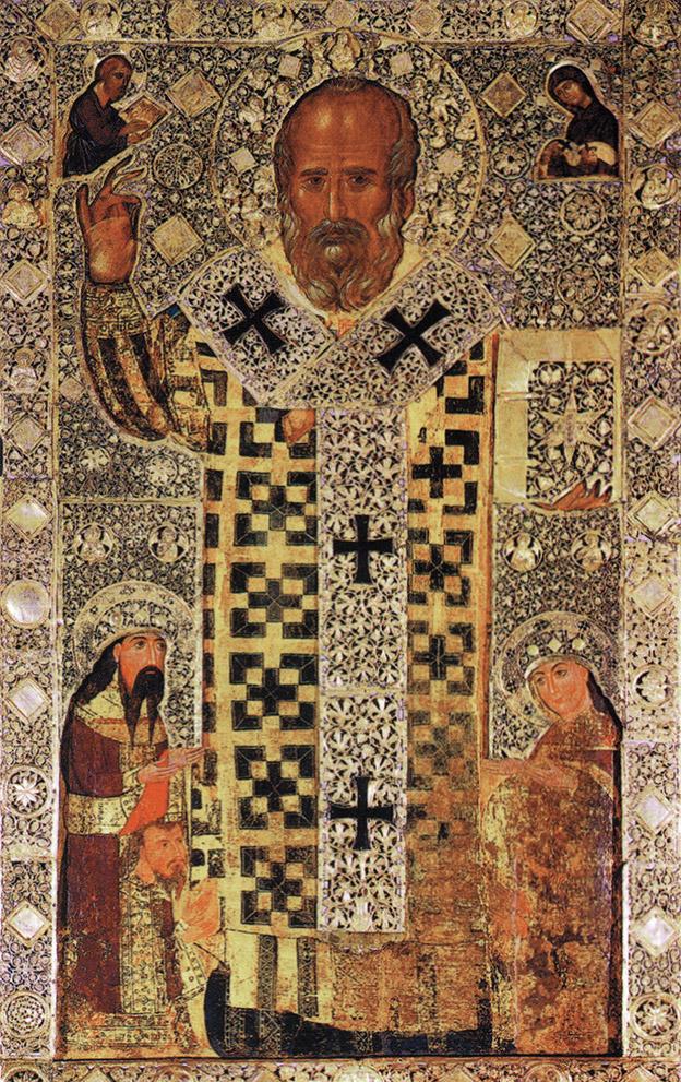 Ikona świętego Mikołaja znajdująca się za ołtarzem bazyliki św. Mikołaja w Bari