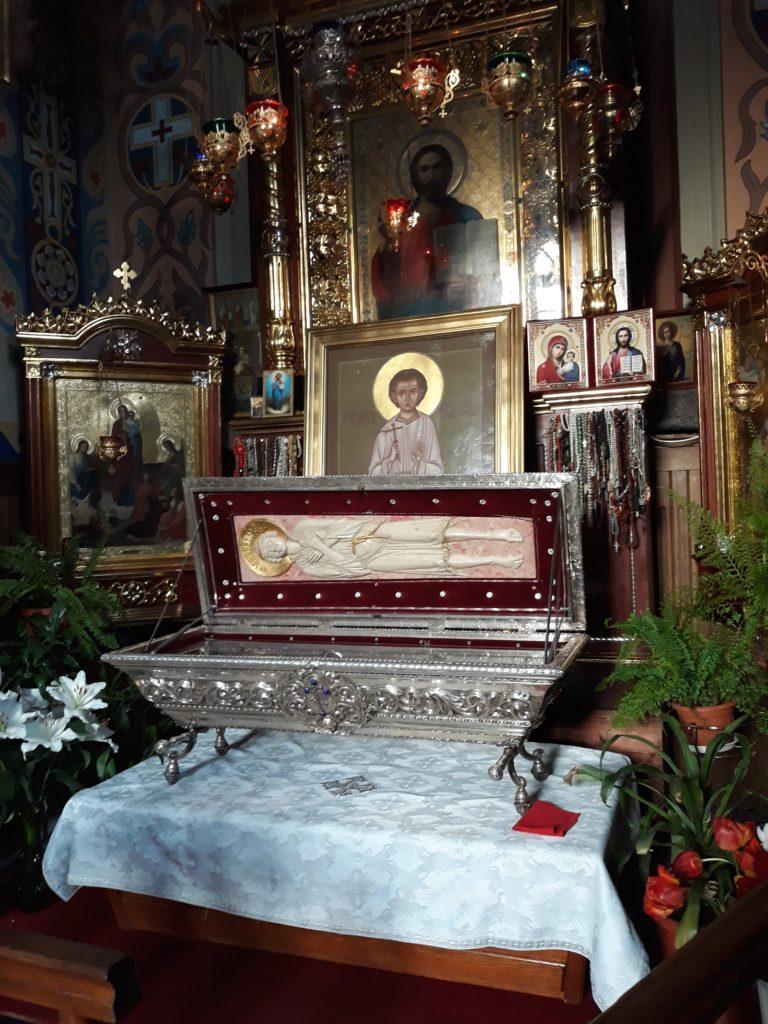 relikwie świętego Gabriela w okresie zimowym znajdują się w Soborze świętego Mikołaja w Białymstoku fot. Paweł Iwaniuk